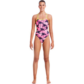 Funkita Cut Away One Piece Baddräkt Dam pink/svart